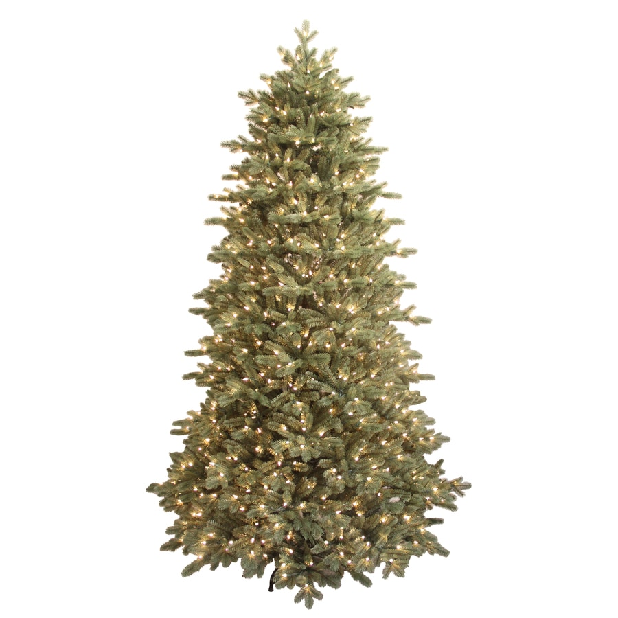 GE 7.5-ft Spruce Pre-lit Artificial Christmas Tree with 700-Count Clear Lights
