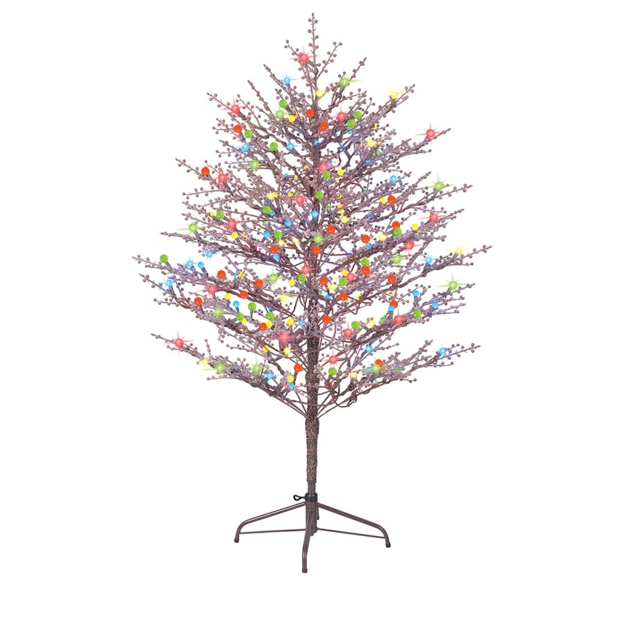 Ge 60 In Winterberry Tree With Multicolor Led Lights
