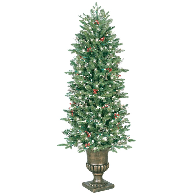 GE 5-ft Pre-Lit Artificial Christmas Tree with 200 ...