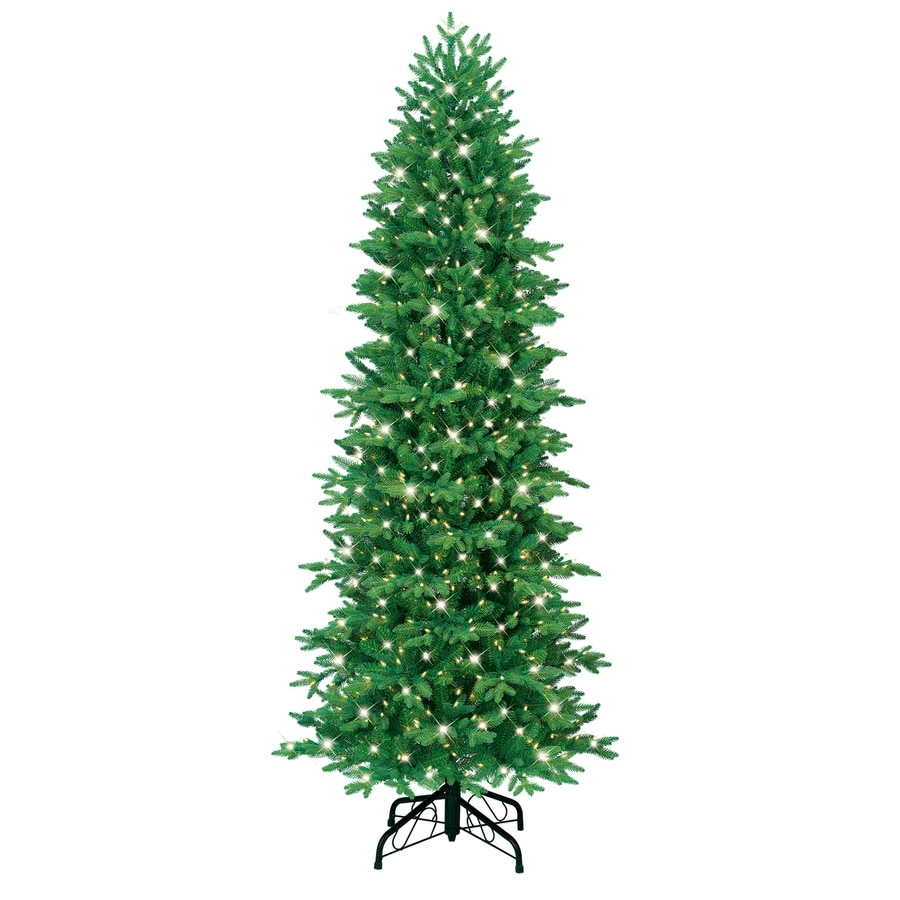 GE 7-ft Fir Pre-lit Artificial Christmas Tree with 700-Count Clear Lights