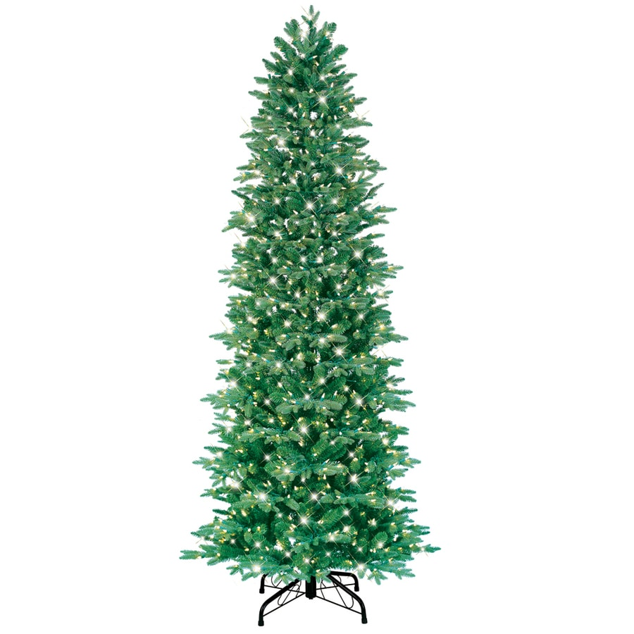 GE 7.5-ft Pre-Lit Fir Artificial Christmas Tree with White Incandescent Lights