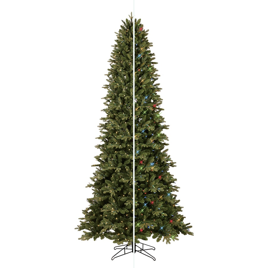 ge 9 ft pre lit aspen fir artificial christmas tree with color changing led - 9 Ft Christmas Tree