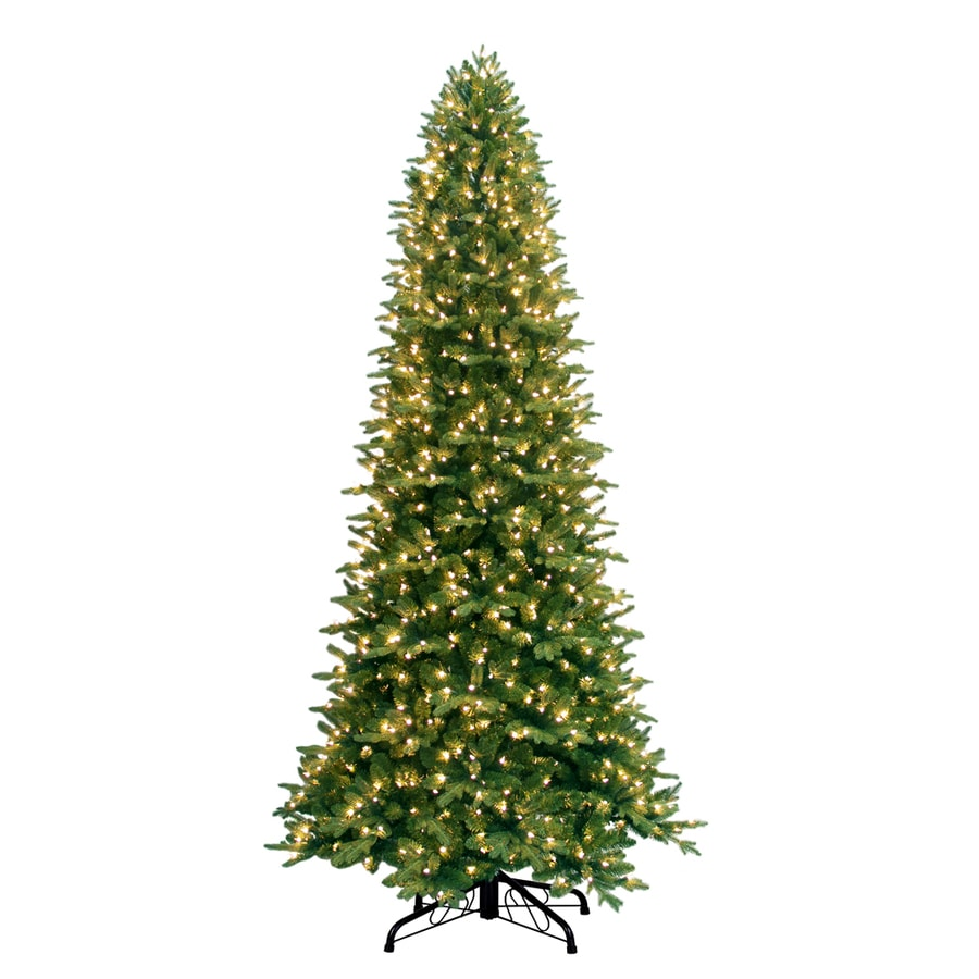 Ge 9 Ft Pre Lit Fir Artificial Christmas Tree With White Incandescent Lights
