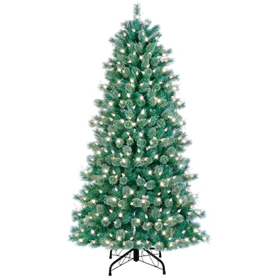 meet 574d9 ffbf5 7-ft Pre-Lit Cashmere Artificial Christmas Tree with White Lights