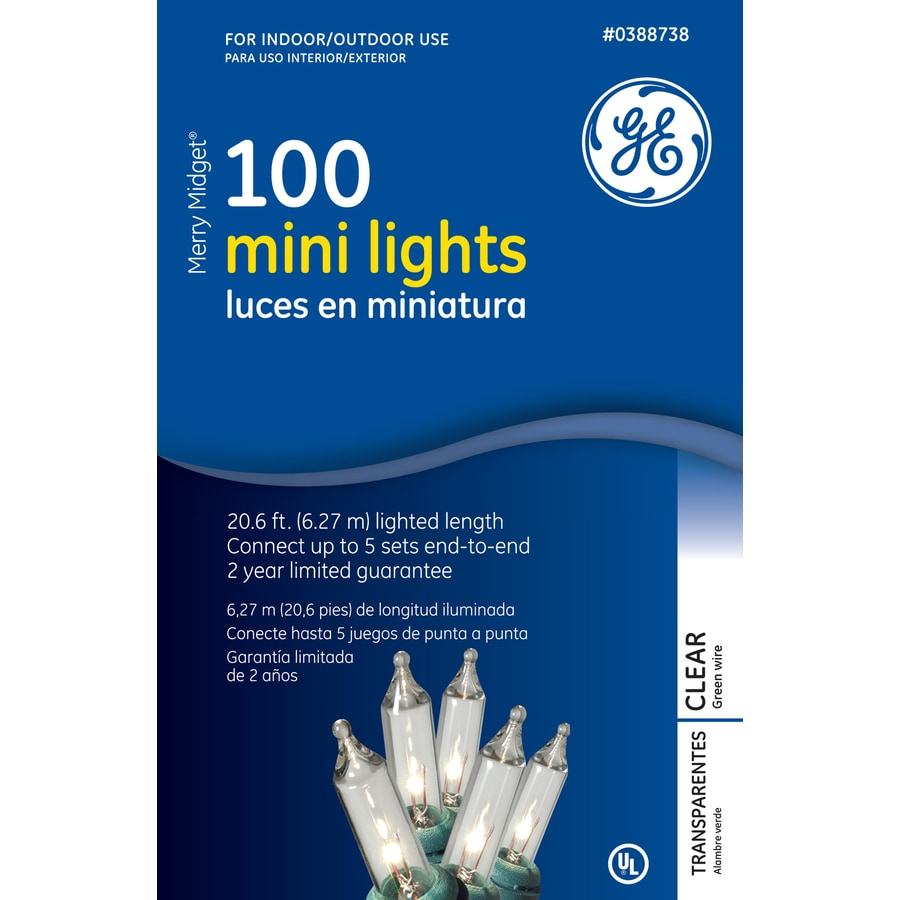GE 100-Count Mini Clear Christmas String Lights