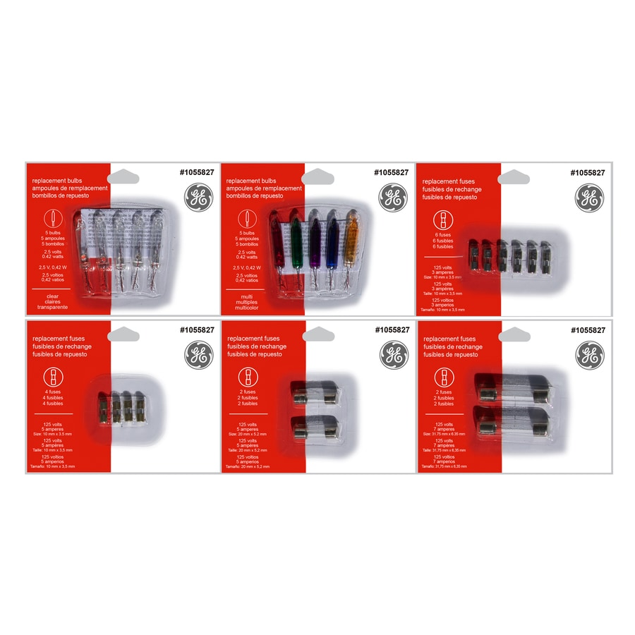 Ge Incandescent Assorted String Light Bulbs And Fuses At