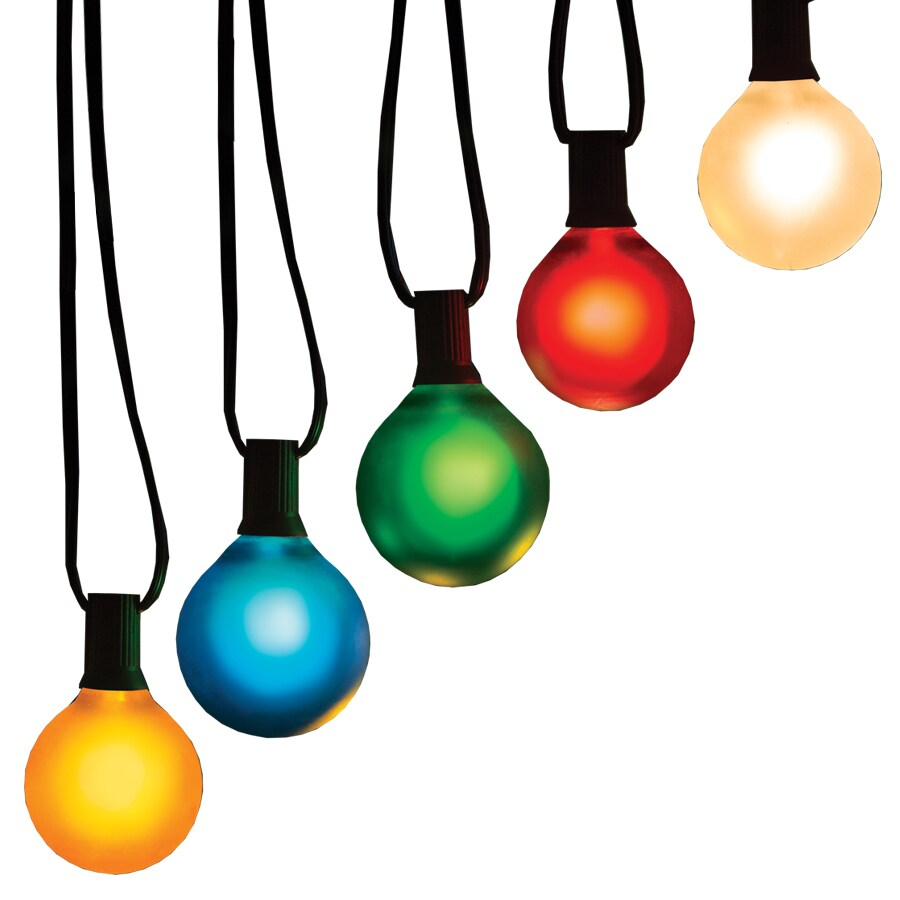GE 10-Count 10.5-ft Constant Multicolor G50 Incandescent Plug-In Indoor/Outdoor Christmas String Lights
