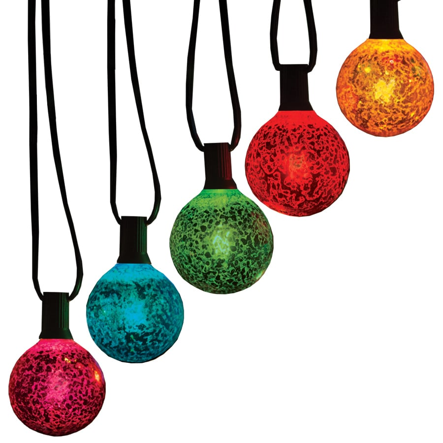 GE 10-Count 10.5-ft Constant Multicolor G60 Incandescent Plug-In Indoor/Outdoor Christmas String Lights