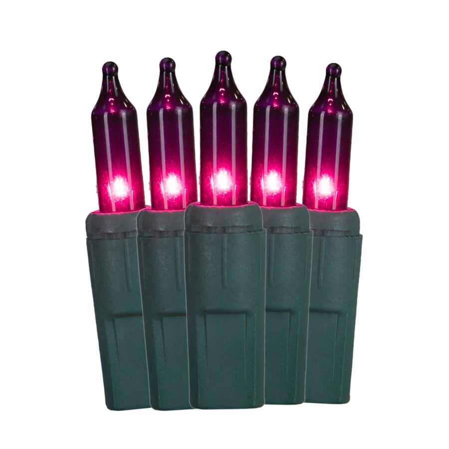 GE ConstantON 100-Count 20.6-ft Constant Purple Mini Incandescent Plug-In Indoor/Outdoor Christmas String Lights