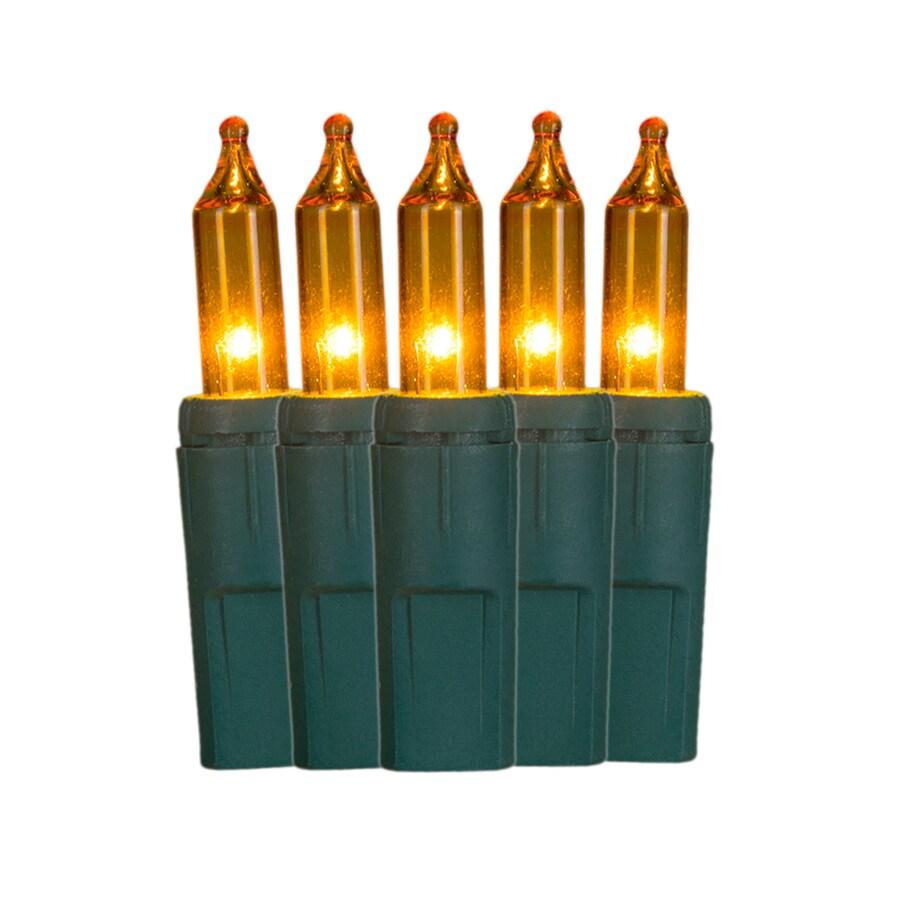 GE ConstantON 100-Count 20.6-ft Constant Gold Mini Incandescent Plug-In Indoor/Outdoor Christmas String Lights