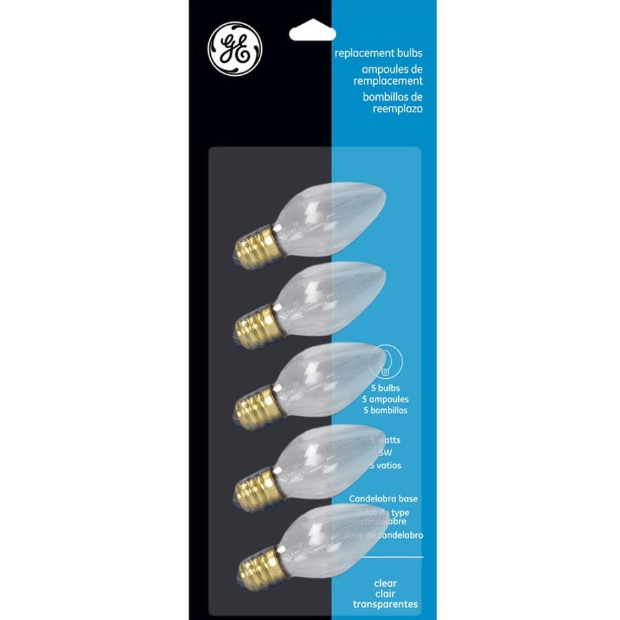 GE Indoor/Outdoor White Incandescent C7 String Light Bulbs