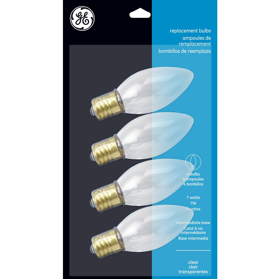 GE Indoor/Outdoor White Incandescent C9 String Light Bulbs