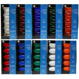 GE Incandescent C9 Assorted String Light Bulbs