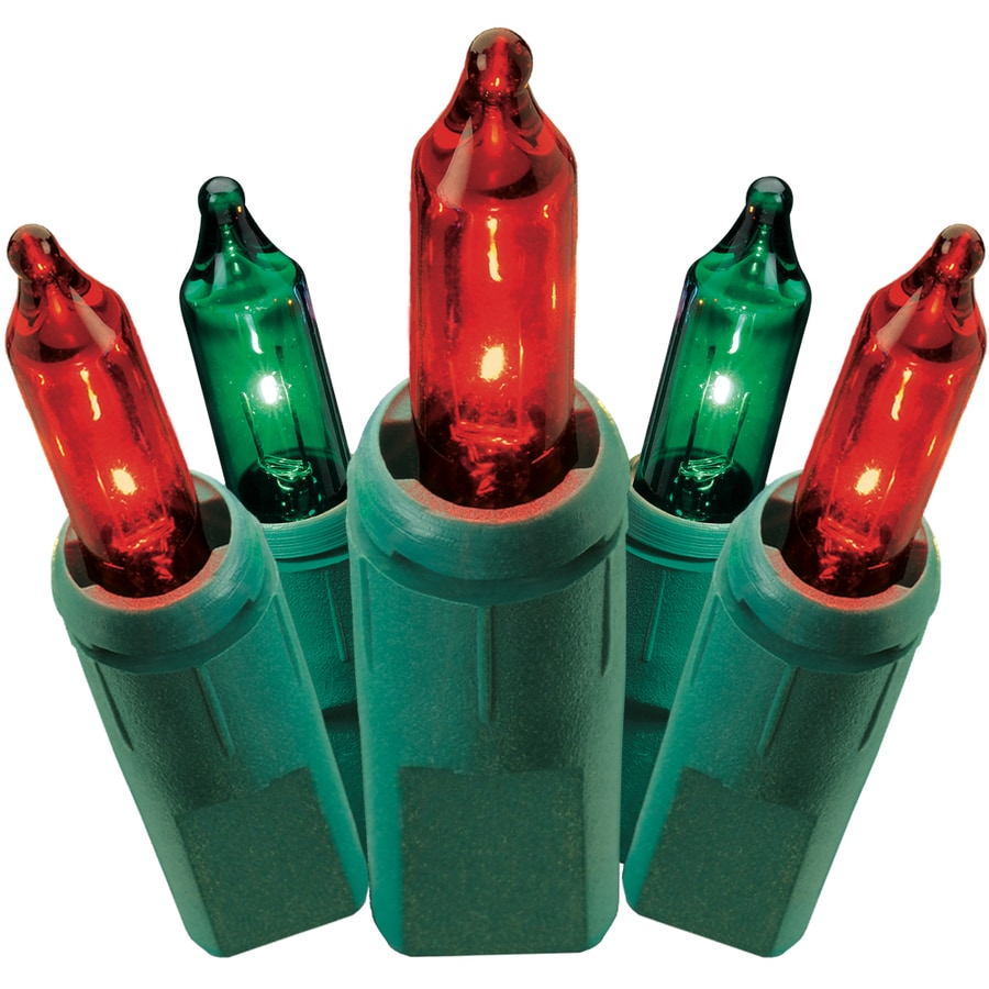 GE String-A-Long 100-Count 41.25-ft Constant Red/Green Mini Plug-in Indoor/Outdoor Christmas String Lights