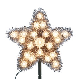 GE 8.5-in Star Silver Christmas Tree Topper