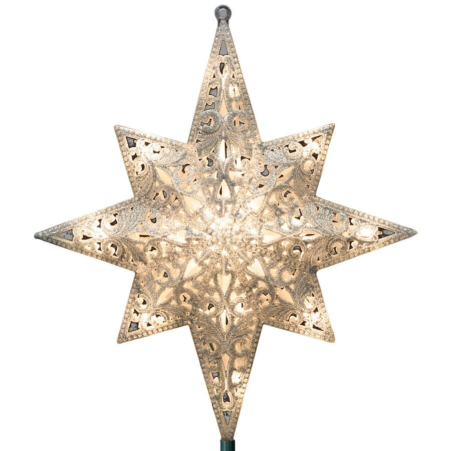 Star For A Christmas Tree: GE 11-in White Lighted Plastic Star Christmas Tree Topper