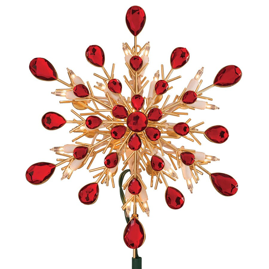 Red And Gold Christmas Trees: GE 9.5-in Pre-lit White Incandescent Plastic Beaded Gold