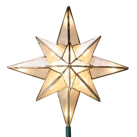 GE 10-in Star Off-White Christmas Tree Topper