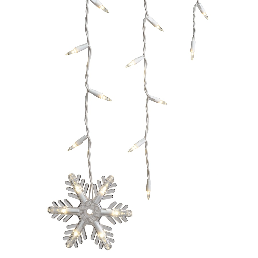 GE 150-Count White Mini Incandescent Plug-In Christmas Icicle Lights ...
