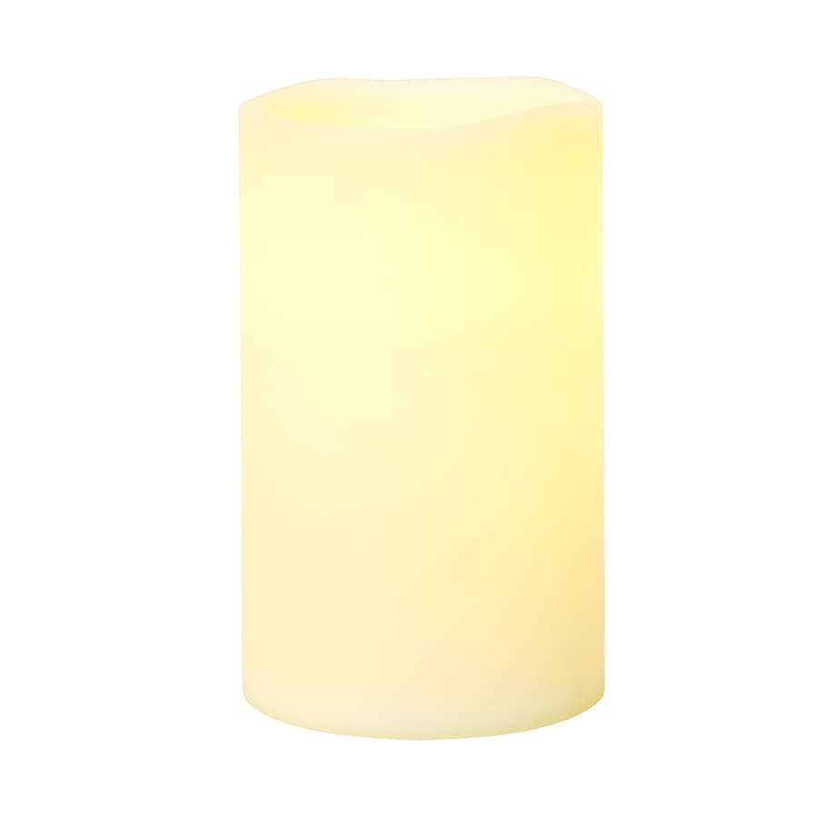 GE 5-in Christmas Pillar Candle