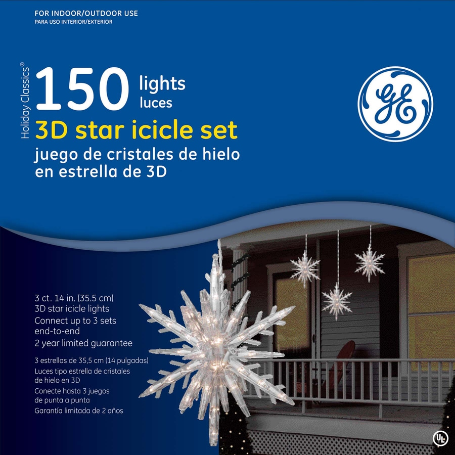 GE 150-Count 4-ft Constant Clear Mini Indoor/Outdoor Christmas String Lights