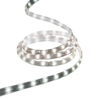 new style 17b98 a09da StayBright 240-Count 19.6-ft with White Integrated LED Plug-In Christmas  Rope Lights