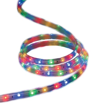 check out f44c3 df09a StayBright 240-Count 19.6-ft Multicolor Integrated LED Plug-In Christmas  Rope Lights