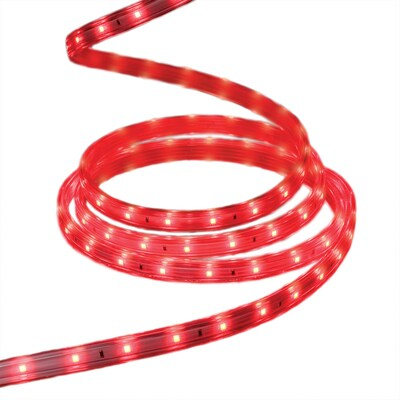 Staybright 240 Count 19 6 Ft With Red Integrated Led Plug In Christmas Rope Lights