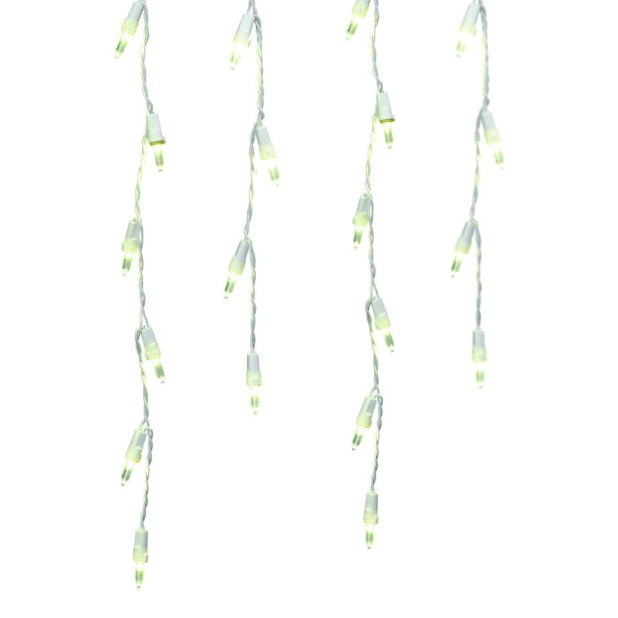 GE Energy Smart 200-Count Indoor/Outdoor Constant Warm White LED Mini Christmas Icicle Lights ENERGY STAR