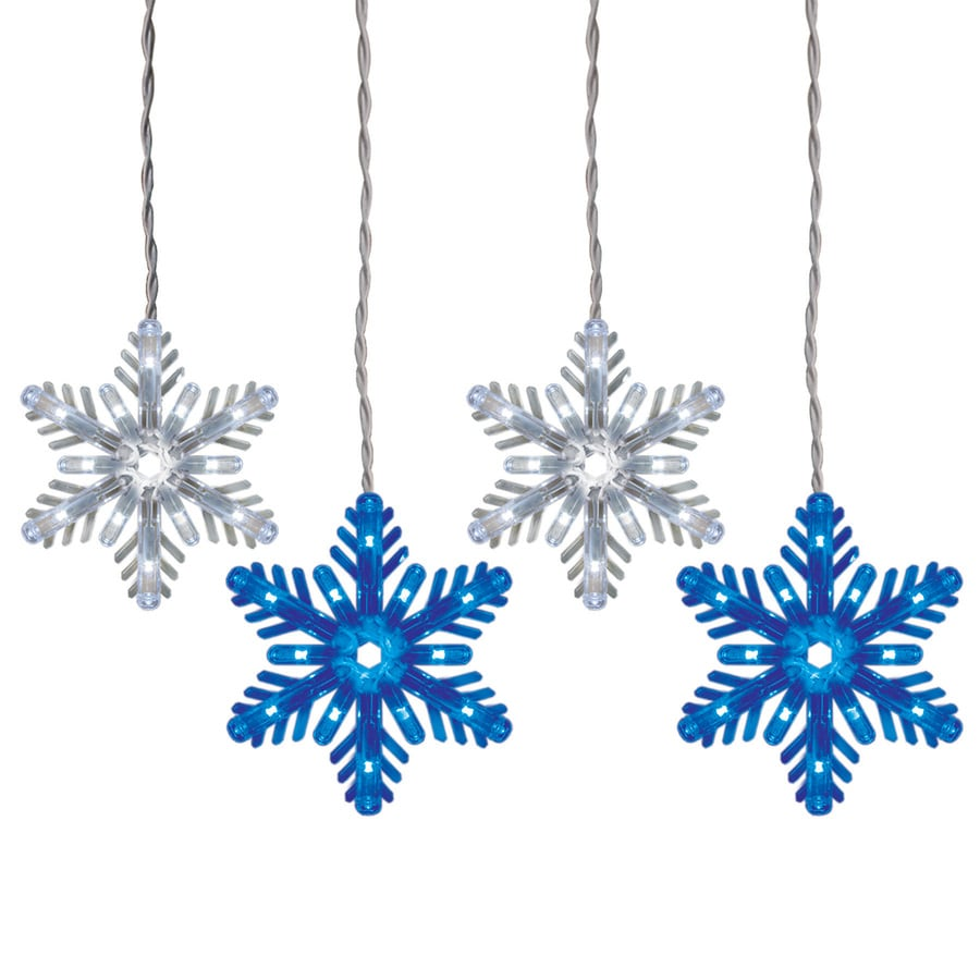 GE Color Choice 96-Count Multi-function Color Changing Snowflake LED ...