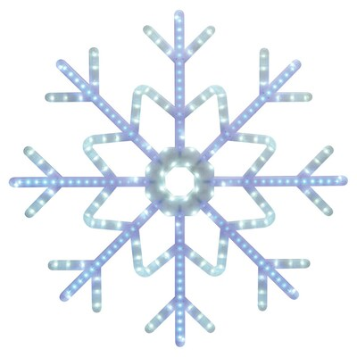 GE 3-ft Hanging Snowflake with Chasing White LED Lights at