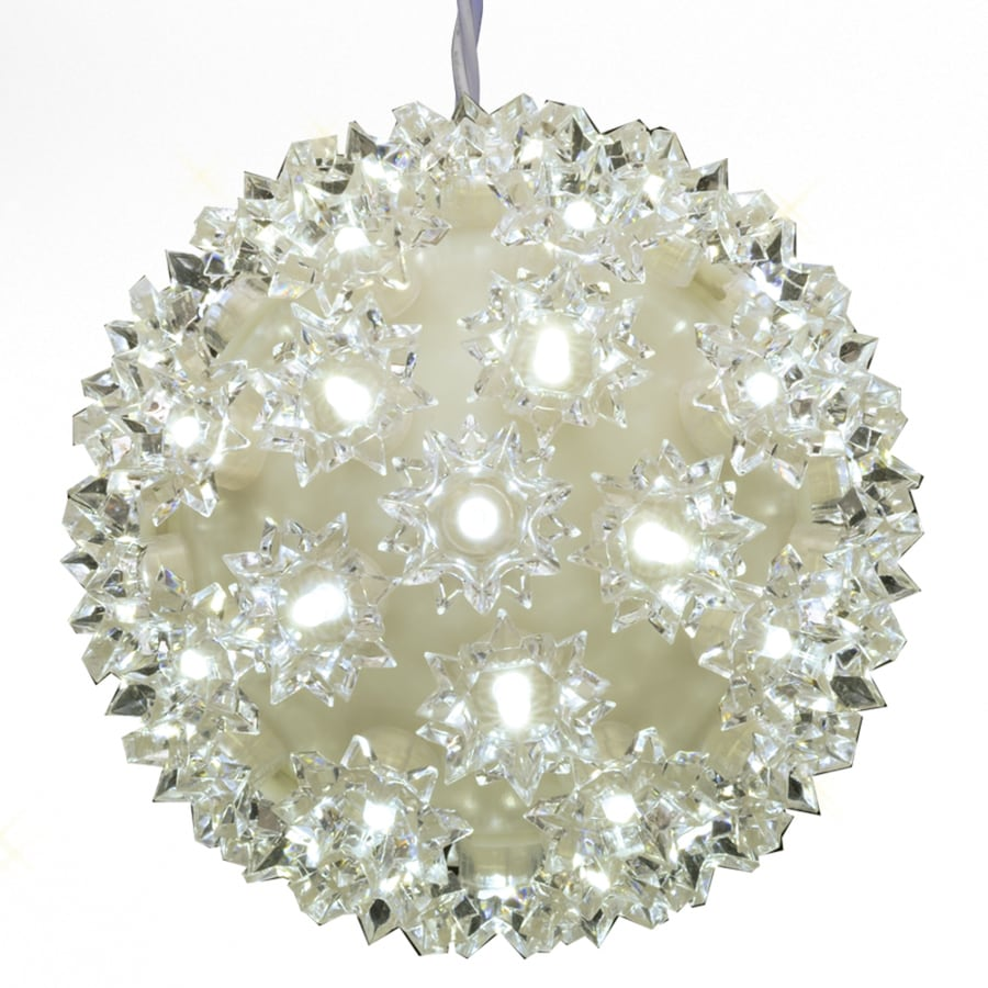 GE Pre-Lit Ball Light Display with Twinkling Warm White LED Lights