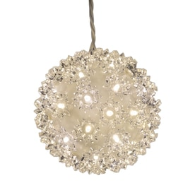 GE 5.5-in Hanging Super Sphere Light Display with White LED Lights