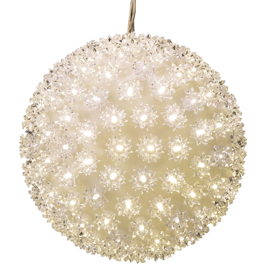 GE 0.93-ft Hanging Super Sphere Light Display with Twinkling White LED Lights