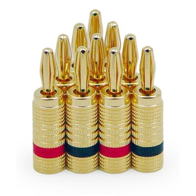 Legrand On-Q 5-Pack Brass Banana Plug Audio Connector at