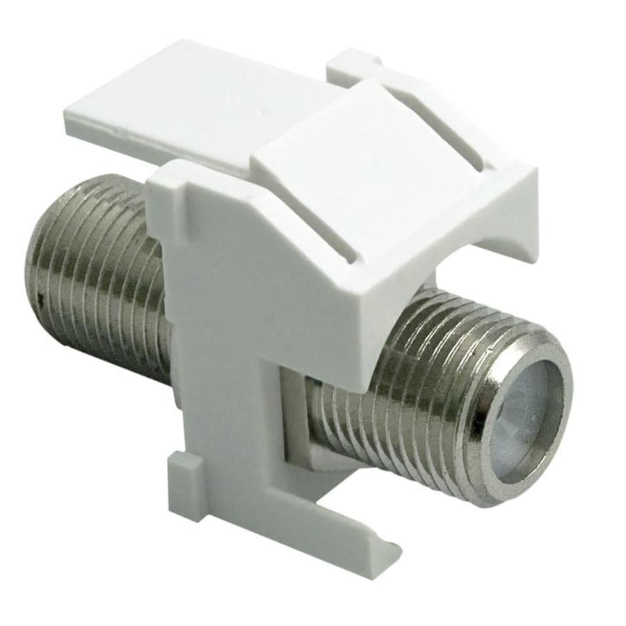On-Q/Legrand White Plastic F-Connector Insert