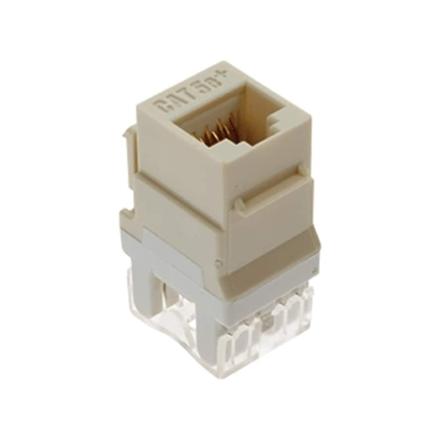On-Q/Legrand 5-Pack Plastic CAT5E Wall Jacks