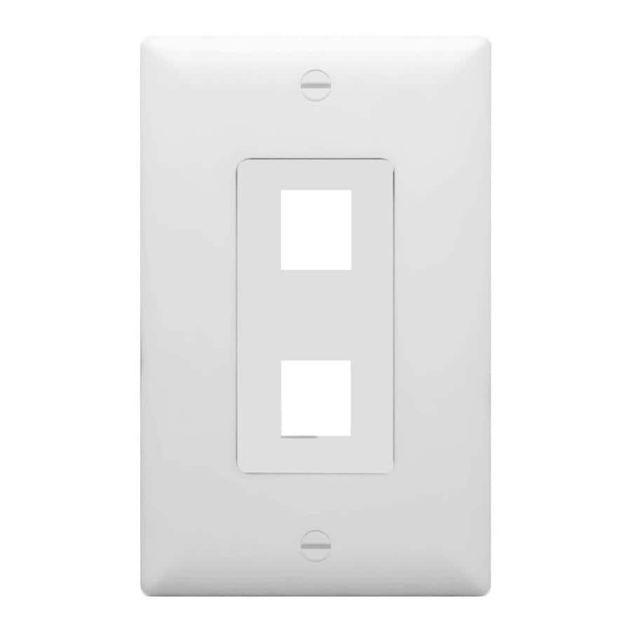 On-Q/Legrand Decorator 1-Gang White Blank Wall Plate
