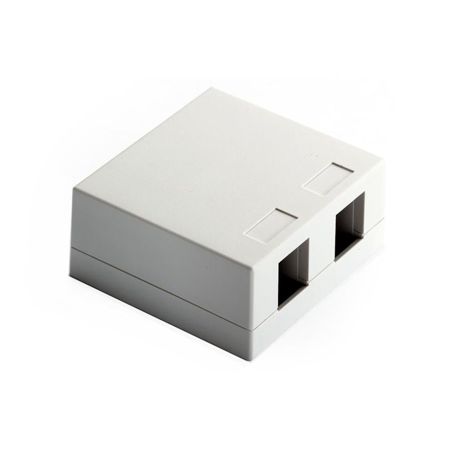 On-Q/Legrand 2-Port White Surface Box