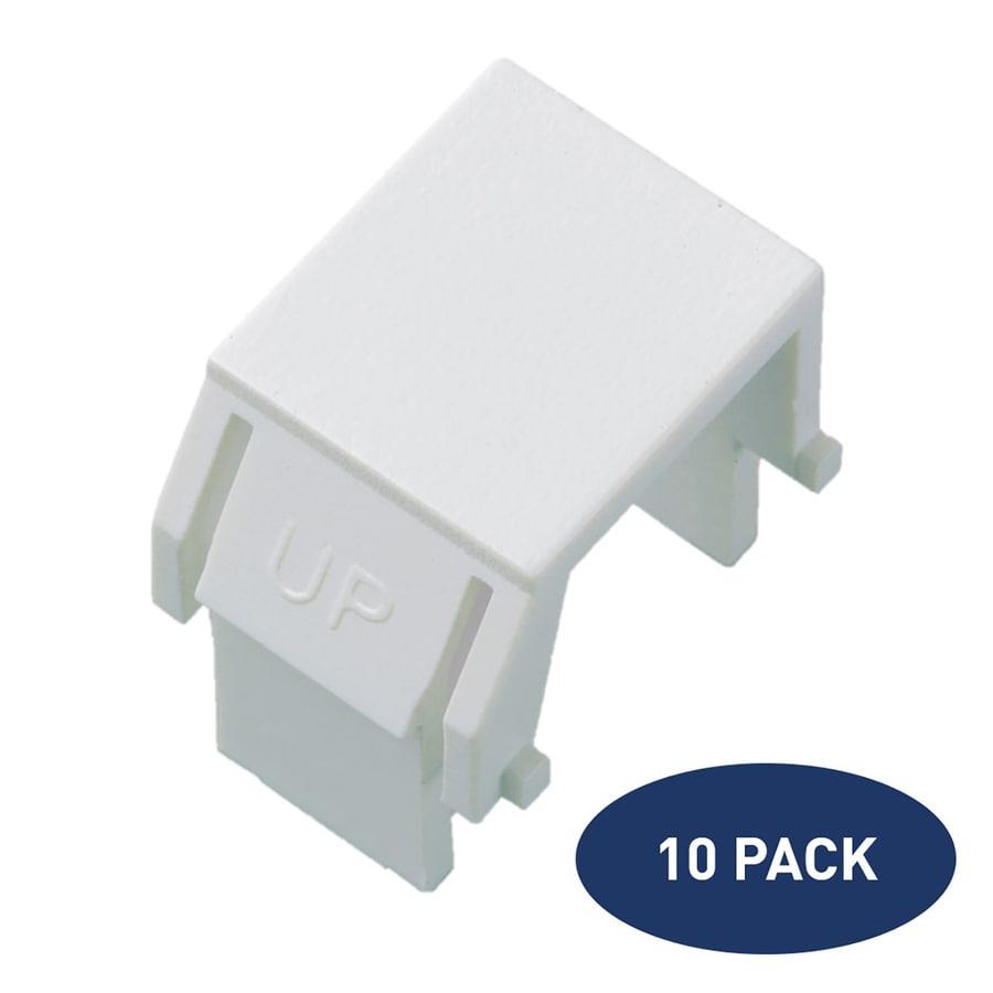 On-Q/Legrand 10-Pack Plastic Blank Insert Wall Jack
