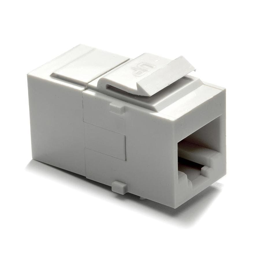 shop audio video wall jacks at lowes com on q legrand white plastic cat5e keystone insert