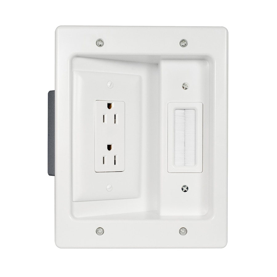 Wall Plug Plates Shop Legrand Recessed 2Gang White Plastic Interior Old Work