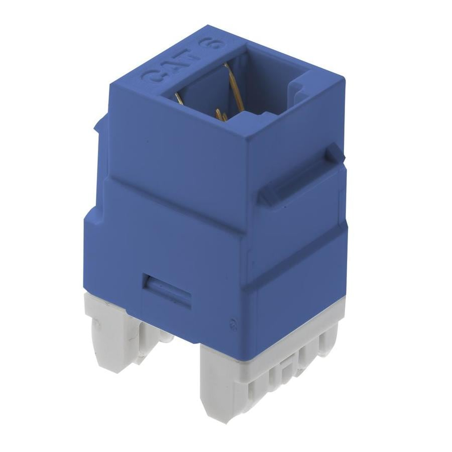 On-Q/Legrand Plastic CAT6 Wall Jack