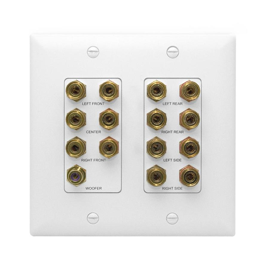 On-Q/Legrand Plastic Home Theater Connection Kit