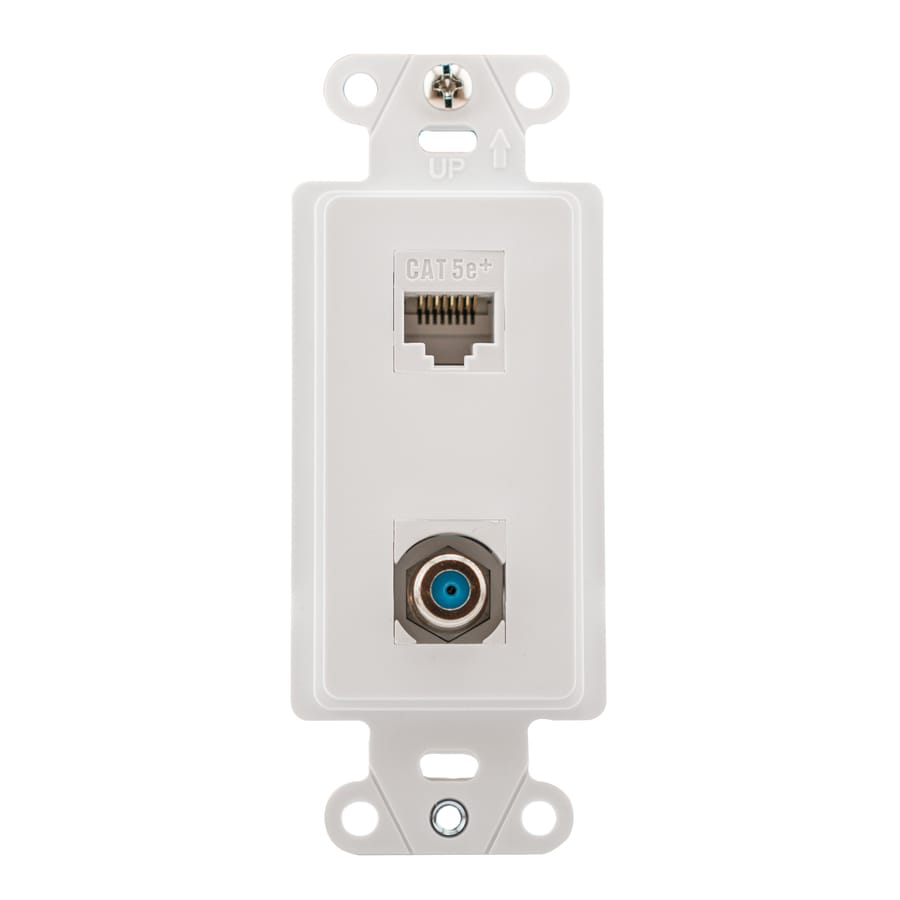 legrand plastic cat5e ethernet wall jack