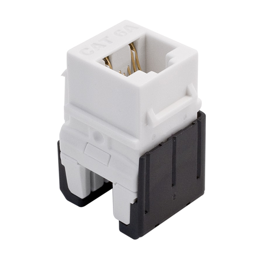 On-Q/Legrand White Cat 6a RJ45 Keystone Insert
