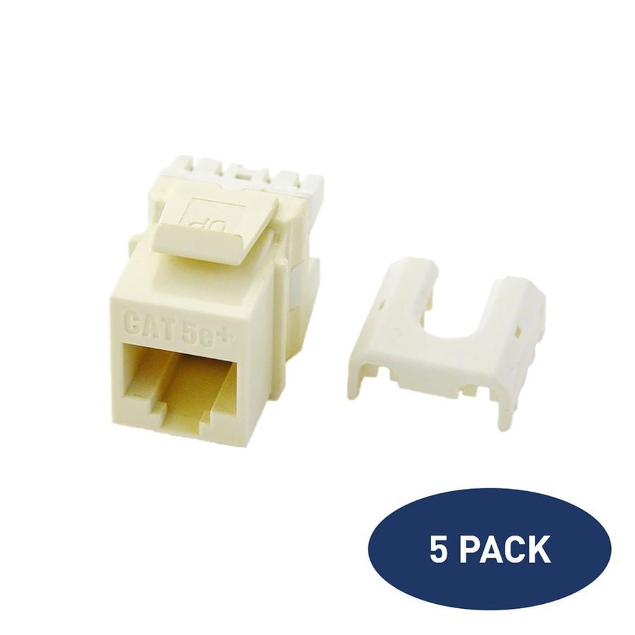 Legrand 5-Pack Plastic Cat5e Wall Jack