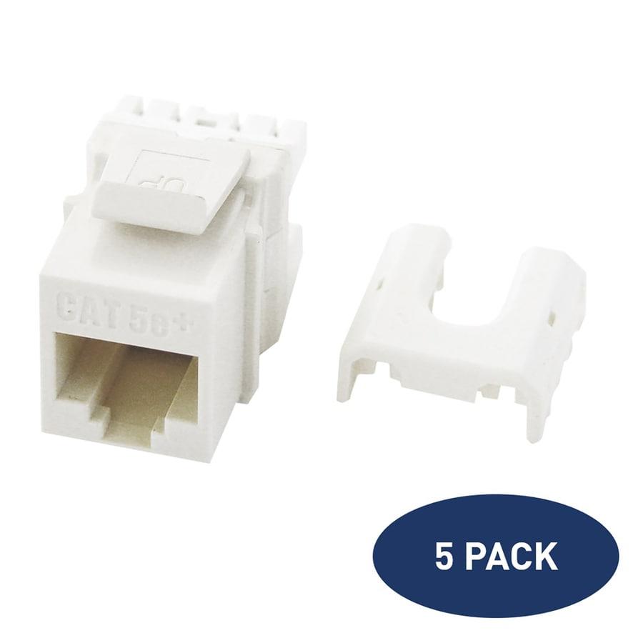 Astounding Legrand 5 Pack Plastic Cat5E Ethernet Wall Jack At Lowes Com Wiring Digital Resources Bocepslowmaporg