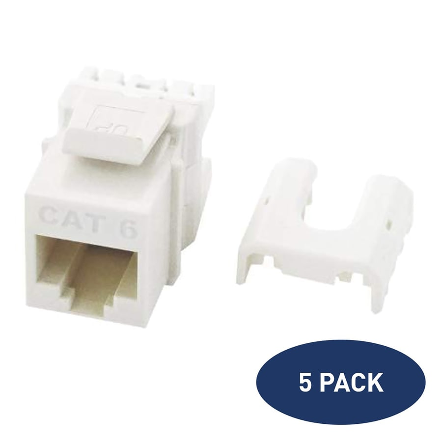 Shop Audio Video Wall Jacks At Wiring Diagram For Phone Jack Plate Legrand 5 Pack Plastic Cat6