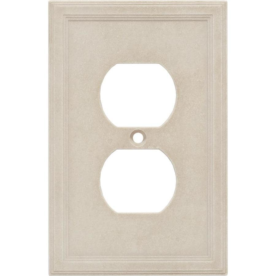Somerset Collection 1-Gang Sand Round Wall Plate